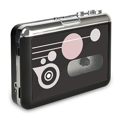 Rybozen Convertidor y Reproductor de Cinta casetes,Convertir Audio Cassette a MP3 Digital,Guardar en USB Flash Disk Directamente -No Requiere PC: Amazon.es: ...