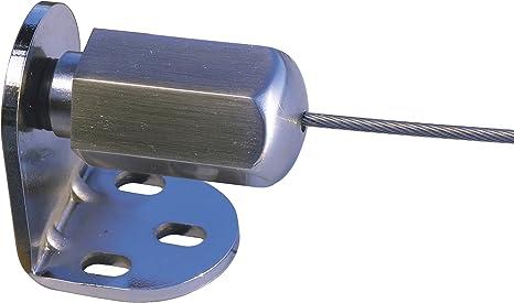 Windhager Set Toldo de Viento Pergola Montaje para jardín de Invierno Inoxline Juego Completo Incl. Cable de Acero Inoxidable 10m x 2mm, 10885, canoso