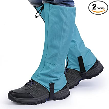 Waterproof Outdoor Hiking Climbing Hunting Snow Ankle Legging Gaiter Blue M