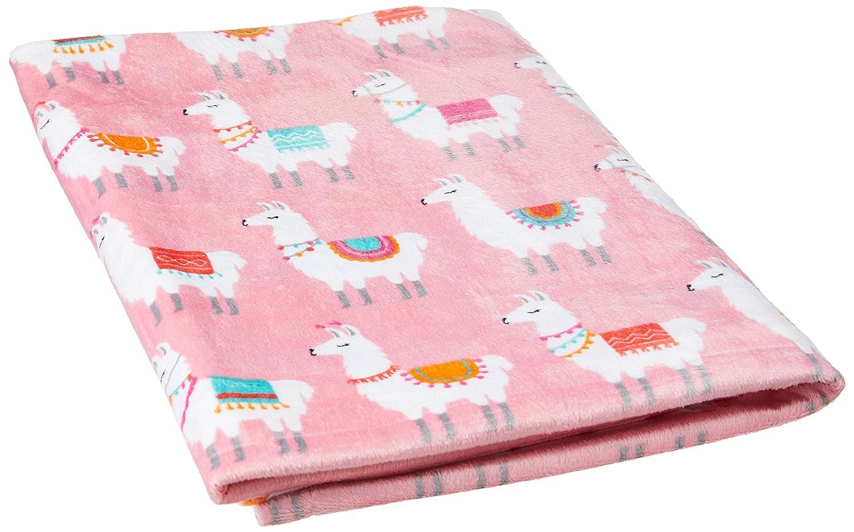 Reversible Mink Blanket One Size Baby Llama