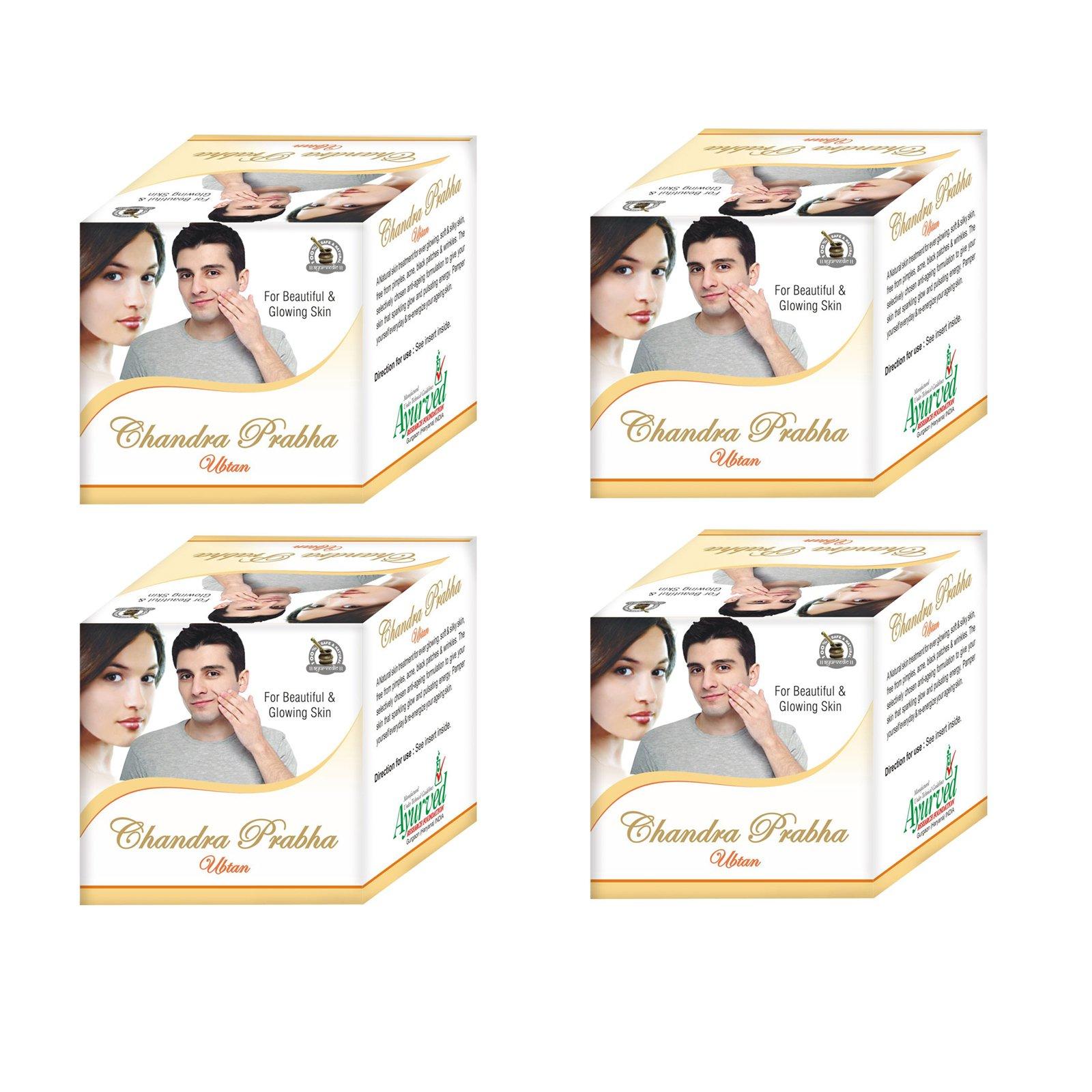 Ayurved Research Foundation Chandra Prabha Ubtan Herbal Skin Rejuvenating Face Pack 4 Packs of 50 Grams