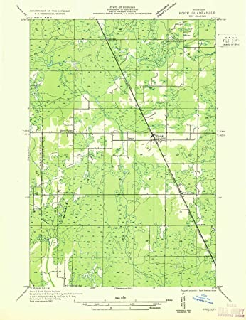 Amazon Com Yellowmaps Rock Sw Mi Topo Map 1 31680 Scale 7 5 X 7 5
