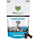 VetriScience Laboratories- Composure, Calming Behavior Support Supplement for Dogs Dealing with Separation Stress, Noise, Thunder and Situational Anxiousness and Anxiety. Chews Available in 3 Flavors