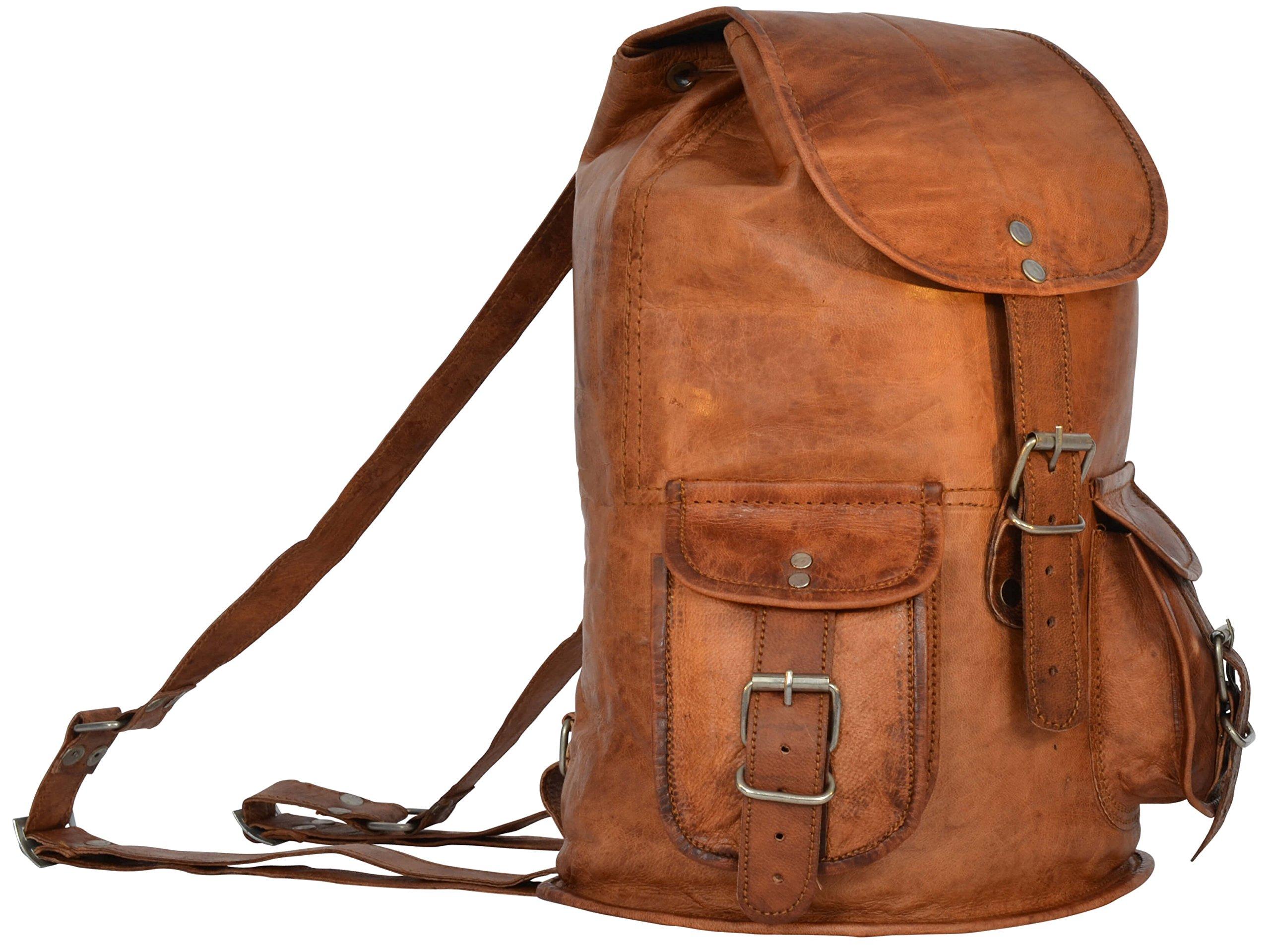 """Gusti Leder nature Genuine Leather Backpack """"Penguin"""" Rucksack Vintage Sling Bag City Uni College Shoulder Leisure Bag Unisex Brown M30"""