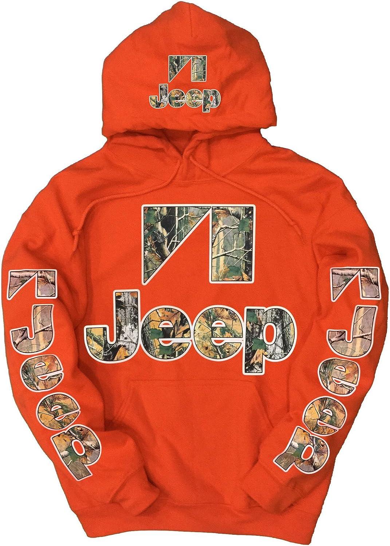 Jeep Mens Con Cappuccio Invernale Stampa Retro Icone Willys Calandra E Stella E Tasche Frontali Top