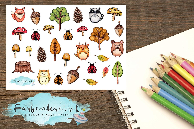 Herbst Sticker (Waldtiere)