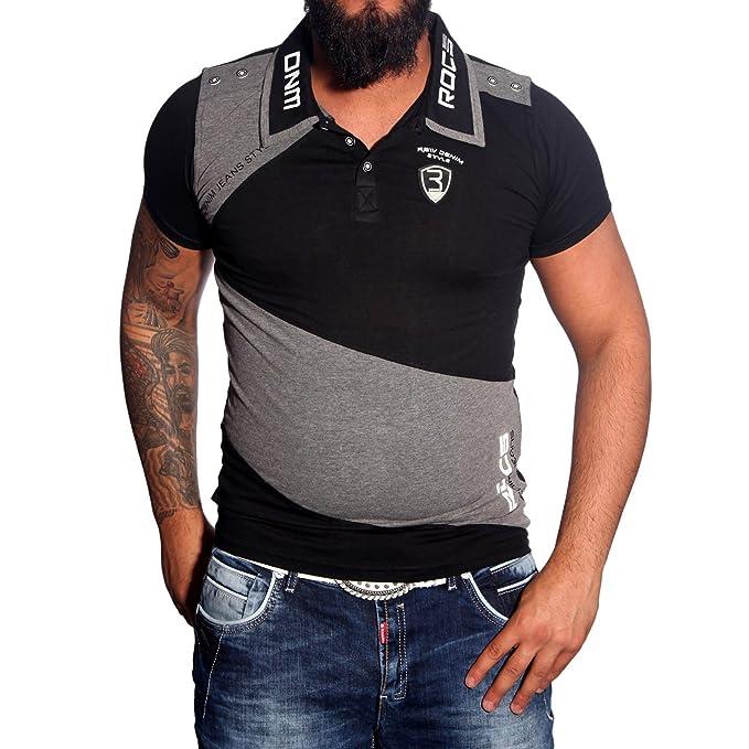 Baxboy Polo de Manga Corta para Hombre Polo Camisa Polo Camisa Camiseta de  JP de 1104 Figurbetont Negro Small  Amazon.es  Ropa y accesorios 66a7c94ea13c5