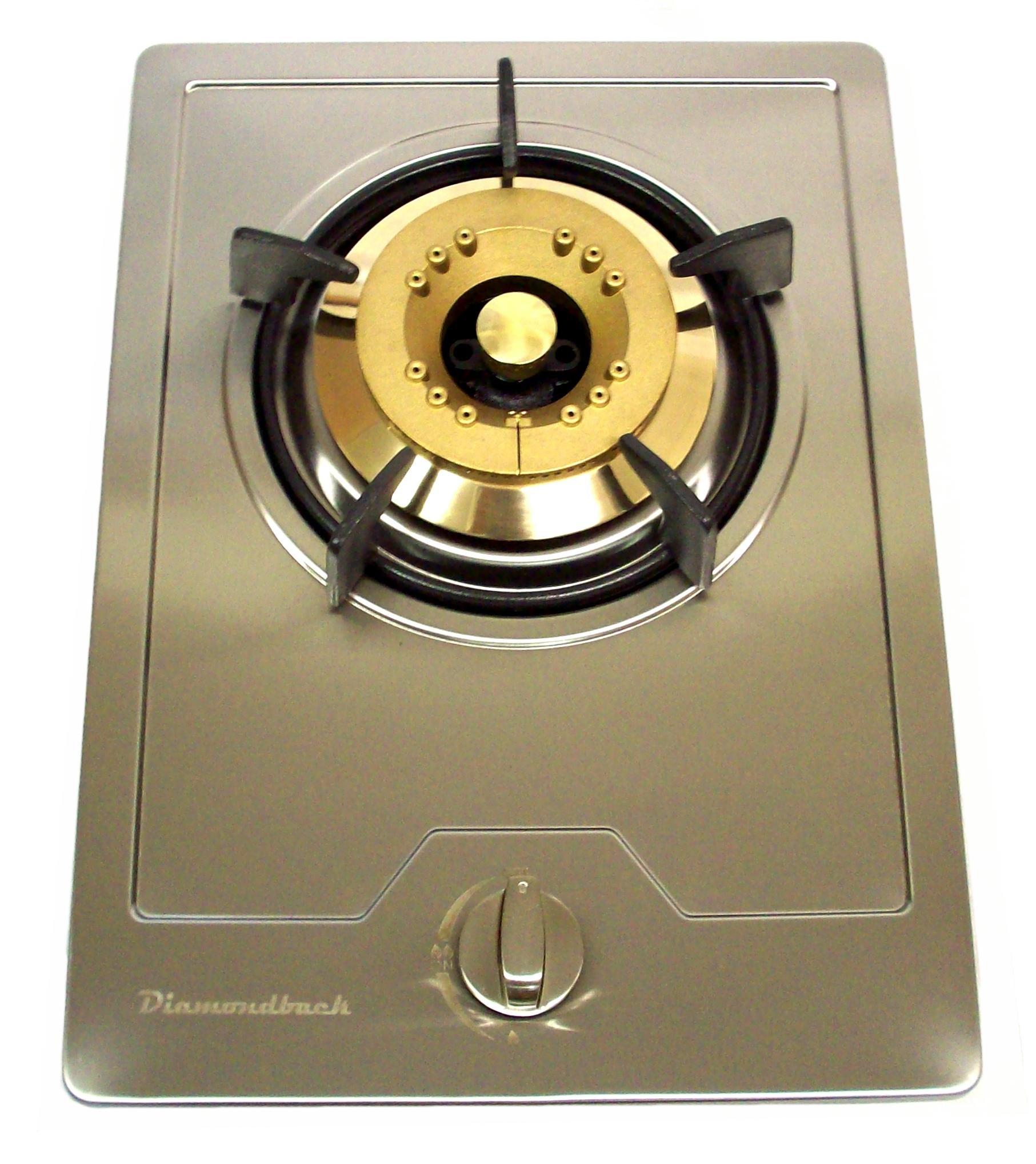 DiamondBack Side Burner/Grill/Built-in/Propane/LP/Natural Gas/Drop/Stainless/NG