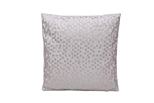 thesecrethome.es COJÍN PVC Dijon Plata 45x45 cm | Ideal para ...