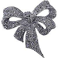 Sprießen Broche De Diamantes De ImitacióN para Damas Vintage, Broche Negro Broche De Broche, JoyeríA De Moda, Accesorios…