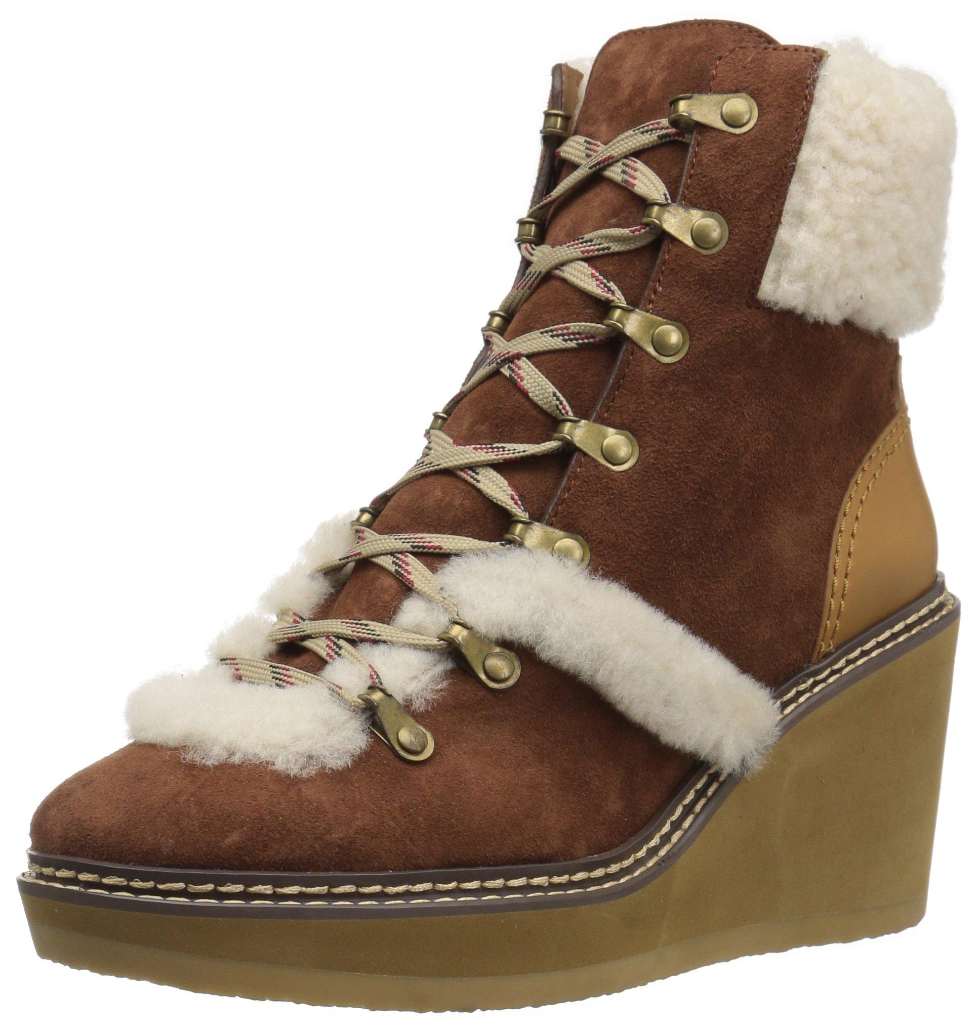 See By Chloe Women's Eileen Wedge W Shearling Fashion Boot, Aztec, 39 M EU (9 US)