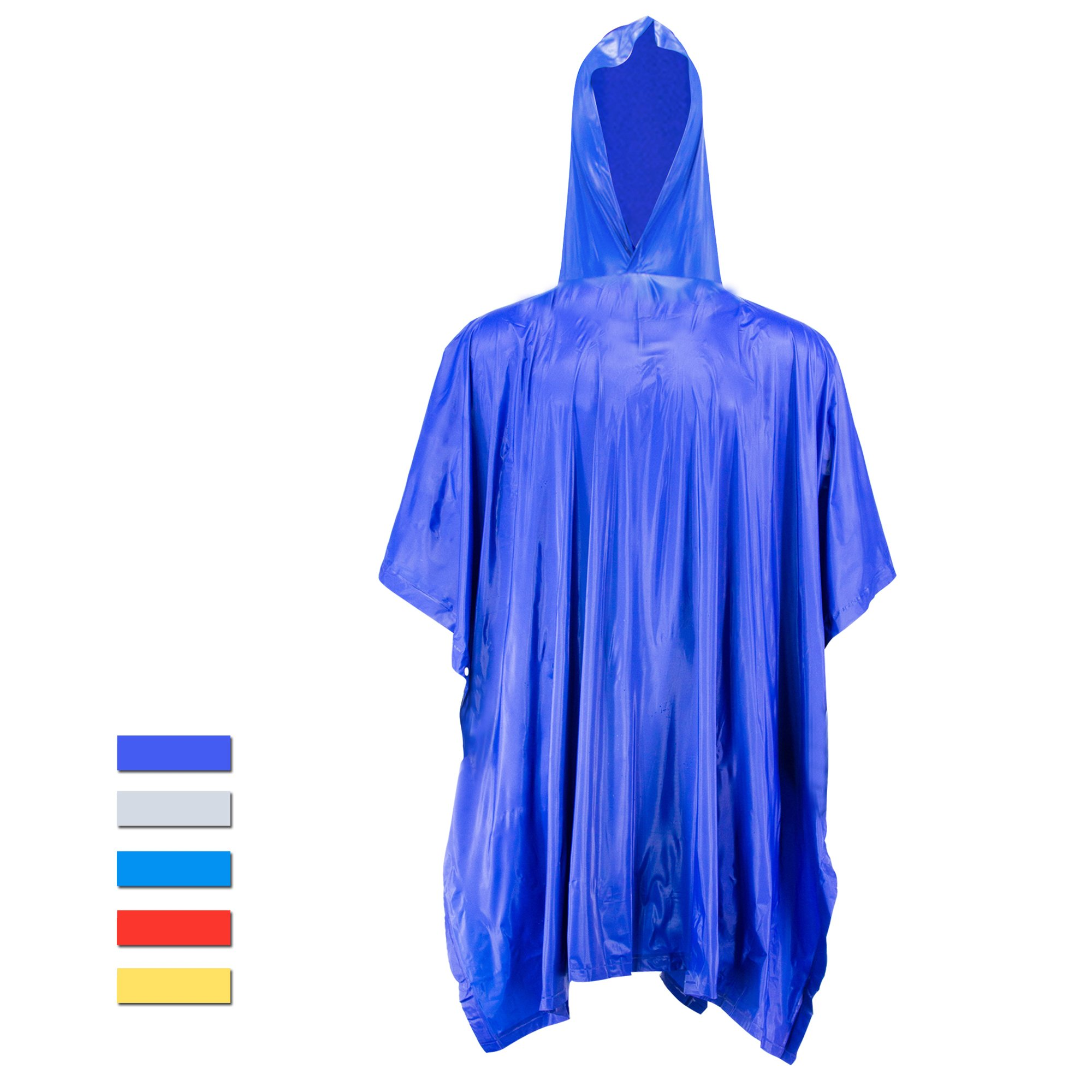 H&C Bike Rain Poncho Hoods and Sleeves,Blue-super Large,One Size