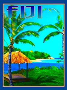 MAGNET Fiji Island South Pacific Seas Ocean Beach Reef Travel Advertisement Art Magnet