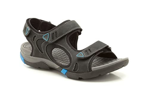 5a8fa56516e Clarks Mens Sport Wave Tour Nubuck Sandals In Black Standard Fit Size 7