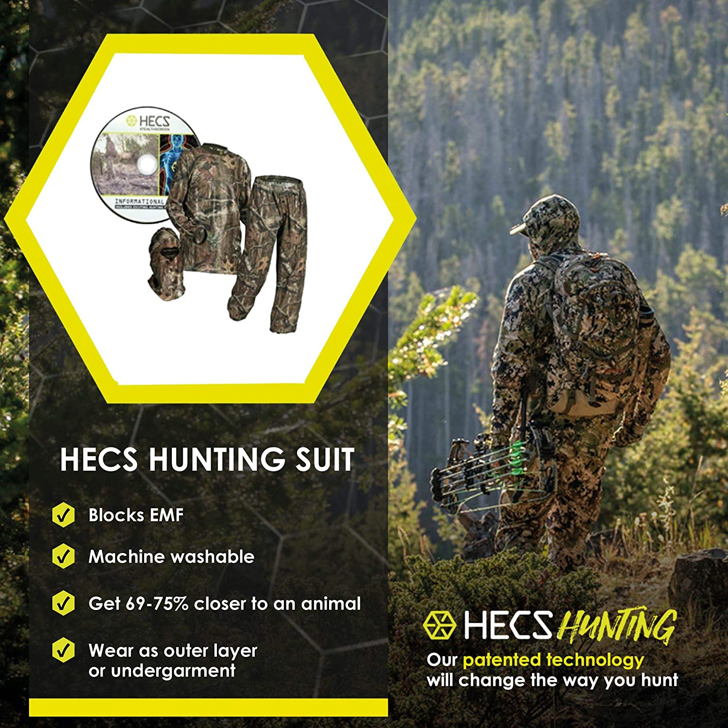 HECS Hunting 3-Piece Camo Suit - As Seen On History Channels Face The Beast