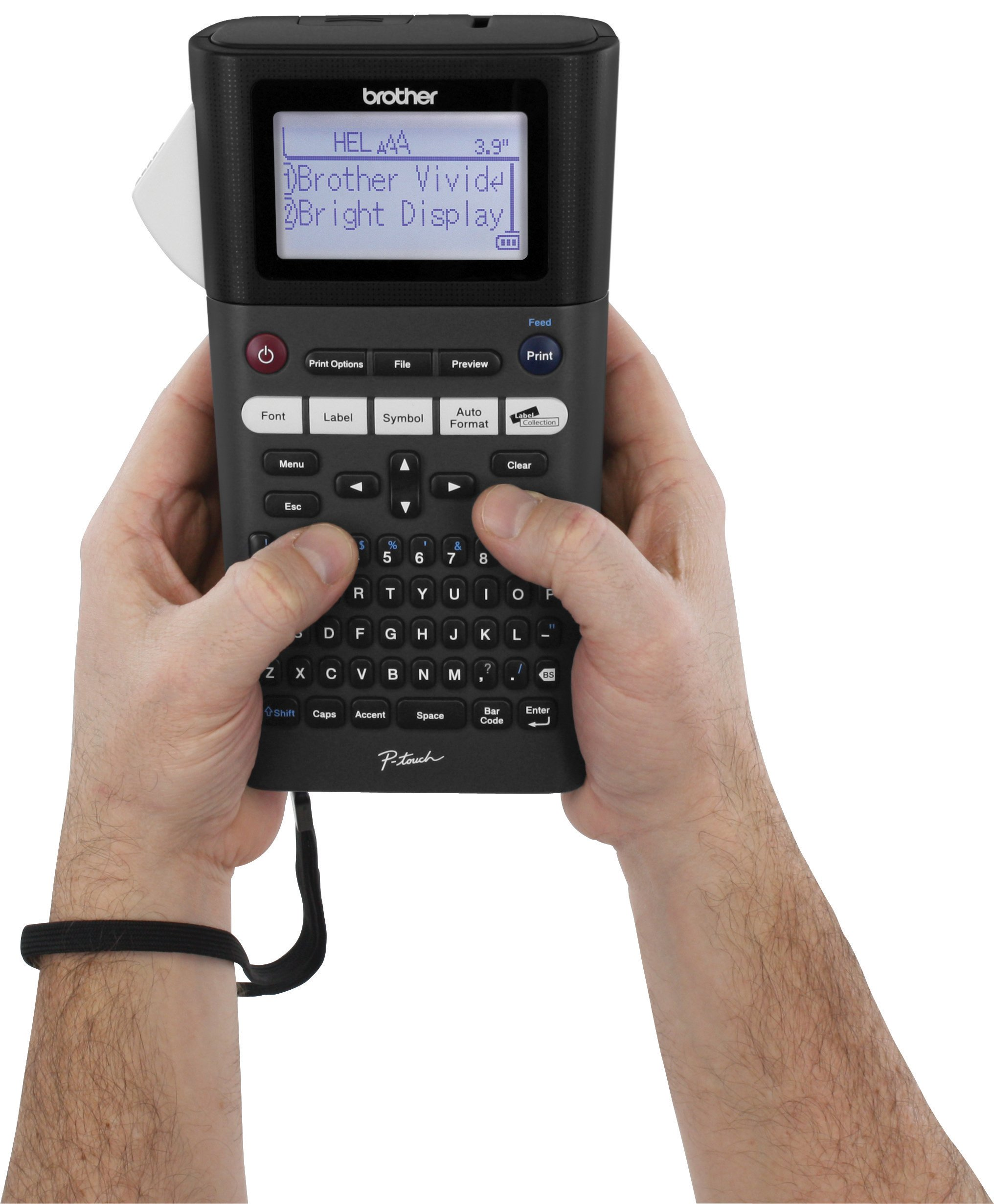 Brother P-touch, PTH300LI, Rechargeable Portable Label Maker, One-Touch Formatting, Vivid Bright Display, Fast Printing Speeds, Black