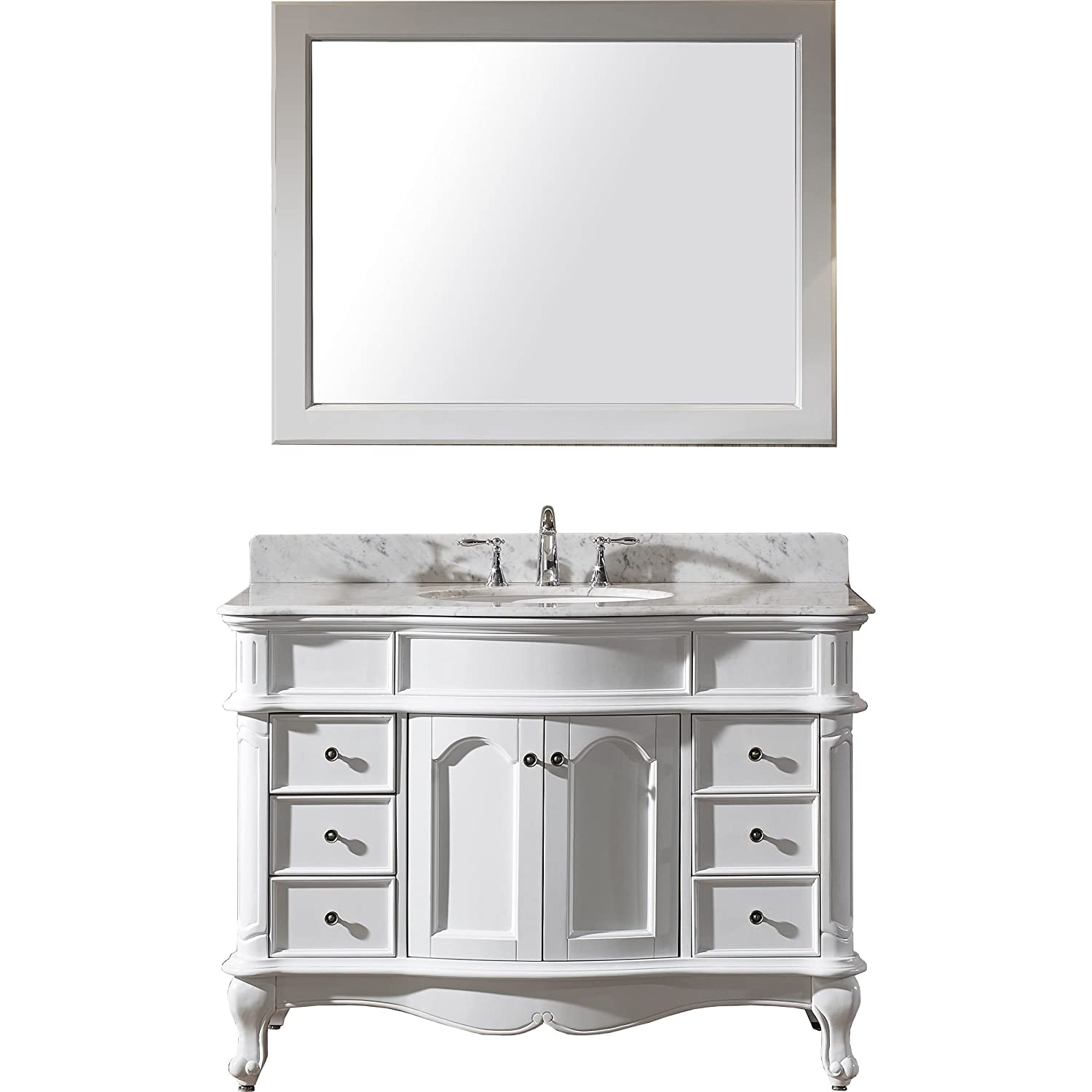 Virtu ESWMROWH Norhaven Single Bathroom Vanity Cabinet Set - Single bathroom vanity cabinets