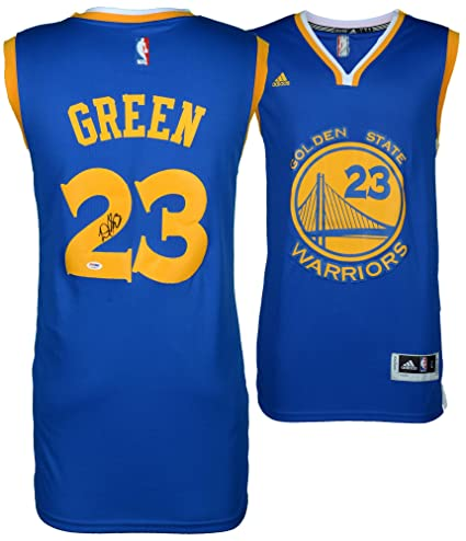 7c79db77826 Draymond Green Golden State Warriors Autographed Blue Jersey - PSA/DNA  Certified - Autographed NBA