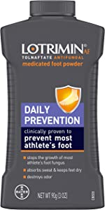 Lotrimin Athlete's Foot Daily Prevention Medicated Foot Powder Bottle, 3 Ounce