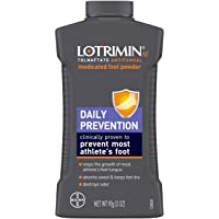Lotrimin AF Athlete's Foot Daily Prevention Medicated Foot Powder, Tolnaftate Antifungal, Clinically Proven Prevention…