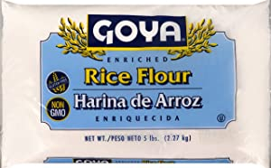 Goya Foods Rice Flour, 5 Pound (pack of 4)