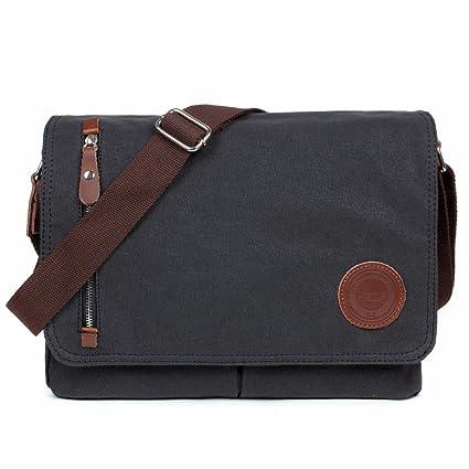 edd84d898a5 Image Unavailable. Image not available for. Color  Losmile Canvas Messenger  Bag Shoulder Bag Vintage Crossbody Laptop Bag Satchel Bag School Bag ...