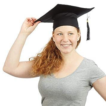 nouveaux produits chauds styles de variété de 2019 gamme exceptionnelle de styles Relaxdays 10020592 Toque étudiant université diplôme chapeau remise de  diplomes fin étude, noir