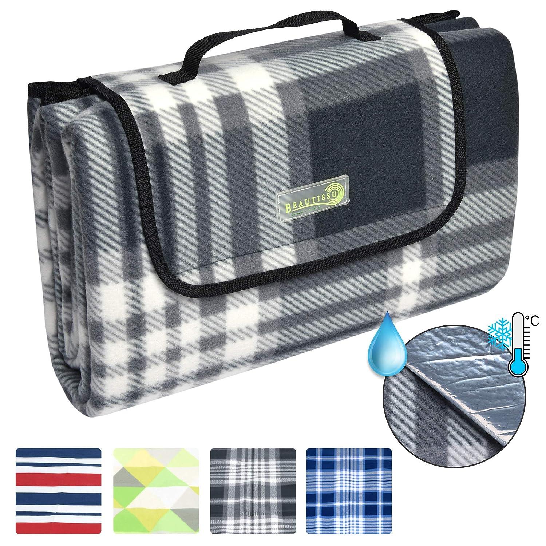 *Beautissu BellaKa Picknickdecke, Wasserdicht 200×200 XXL Outdoor, wärmeisoliert*