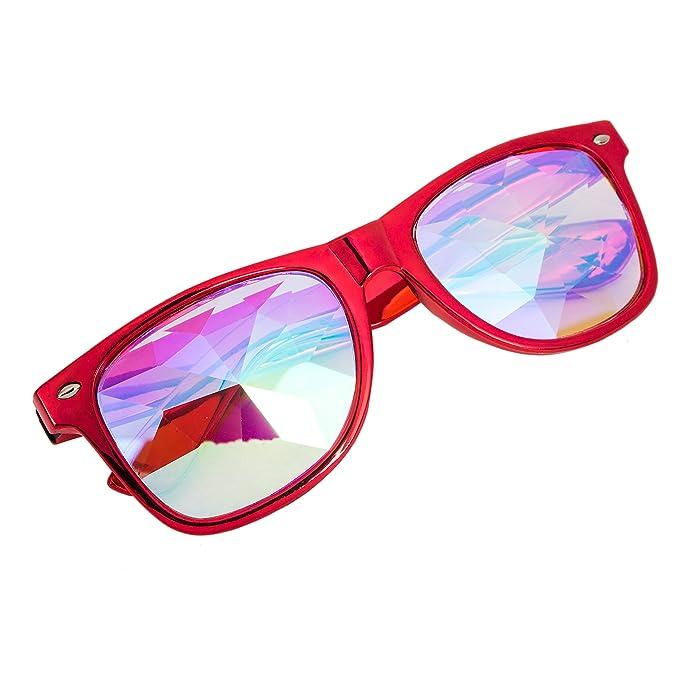 AFUT - Gafas de sol para festivales de caleidoscopio, lentes ...