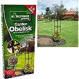1.9M Negro recubierto de polvo de metal jardín obelisco libre de pie soporte para plantas trepadoras apoyo marco al aire libre enrejado