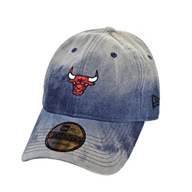 New Era Chicago Bulls Denim Wash Out Men s Strapback Hat Cap Denim Blue  80570999 (Size 444f7147946