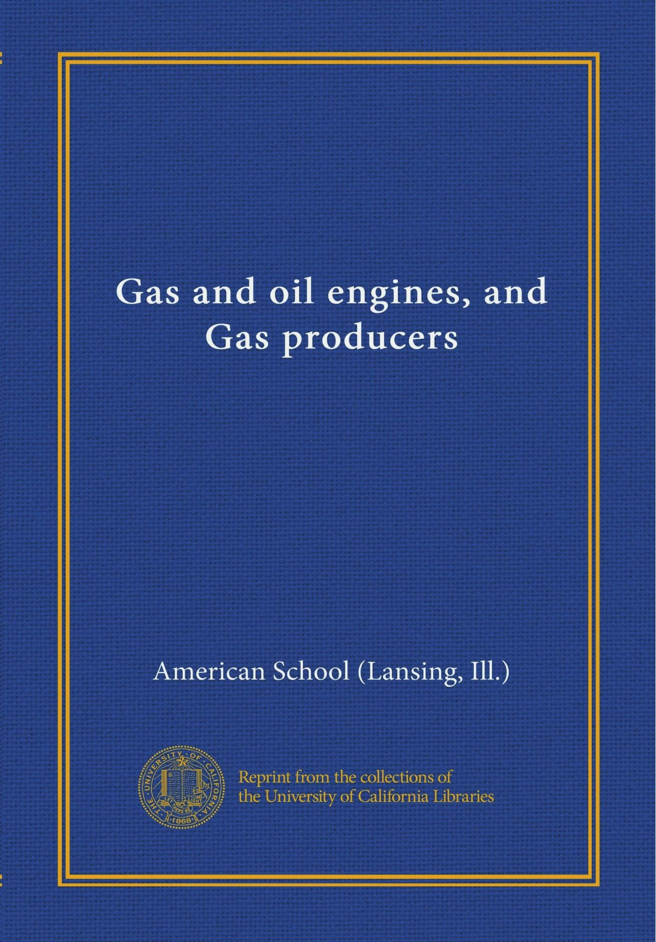 Gas and oil engines, and Gas producers ebook