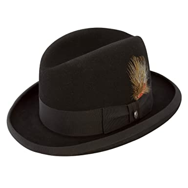 13c9244bcfbd1 Stetson Fur Felt Homburg Hat at Amazon Men s Clothing store