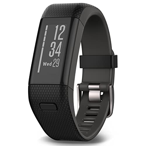 Garmin Vivosmart HR+ Fitness Band GPS con Schermo Touch, Smart Notification e Monitoraggio Cardiaco al Polso, M - L (13.7-18.8 cm), Nero