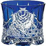 东洋佐佐木玻璃 玻璃杯 270ml 八千代切子 (月华) 日本制造 LS19761SAU-C742 蓝色 270ml LS19761SULM-C742