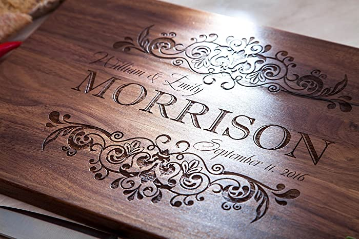 amazon com wood cutting board rustic home decor butcher block