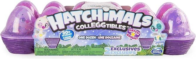 HATCHIMALS CollEGGtibles - Juego de 12 Huevos de cartón con 4 CollEGGtibles para Edades de 5 años y más (los Colores y los Estilos Pueden Variar)