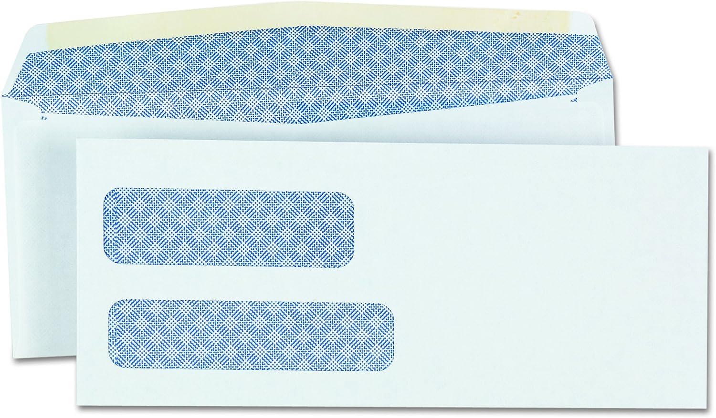 Universal 36301 Double Window Check Envelope, #9, 3 7/8 x 8 7/8, White (Box of 500)