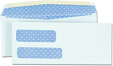 """MyOfficeInnovations Double Window Envelopes No 9 3-7//8/""""x8-7//8/"""" 500//BX White"""