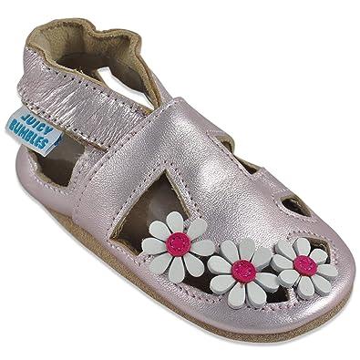 30460d9343344 Sandales Fille - Chaussure Bebe Fille - Chausson Bebe Cuir Souple -  Chaussures Enfants Filles -