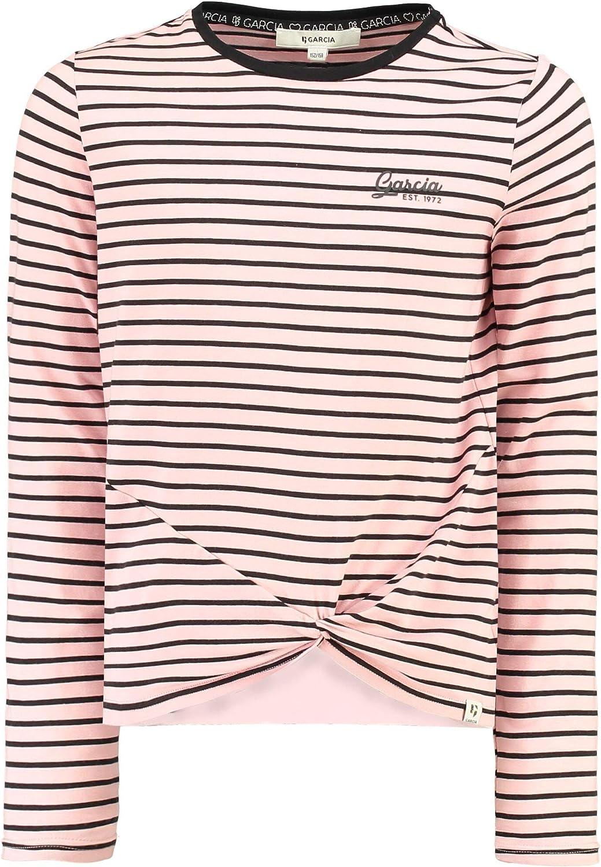 Garcia Damen Sweatshirt mit Kapuze gestreift schwarz//weiß Neu