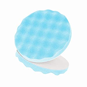 3M Foam Ultrafine foam Polishing Pad, 05751, Single Sided, Flat Back, 8 in (203.2 mm), 2 pads per bag