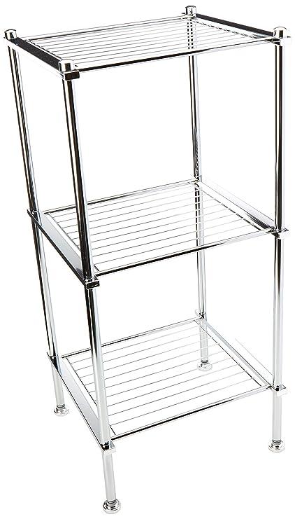 Amazon.com: Organize It All 3 Tier Chrome Freestanding Bathroom ...