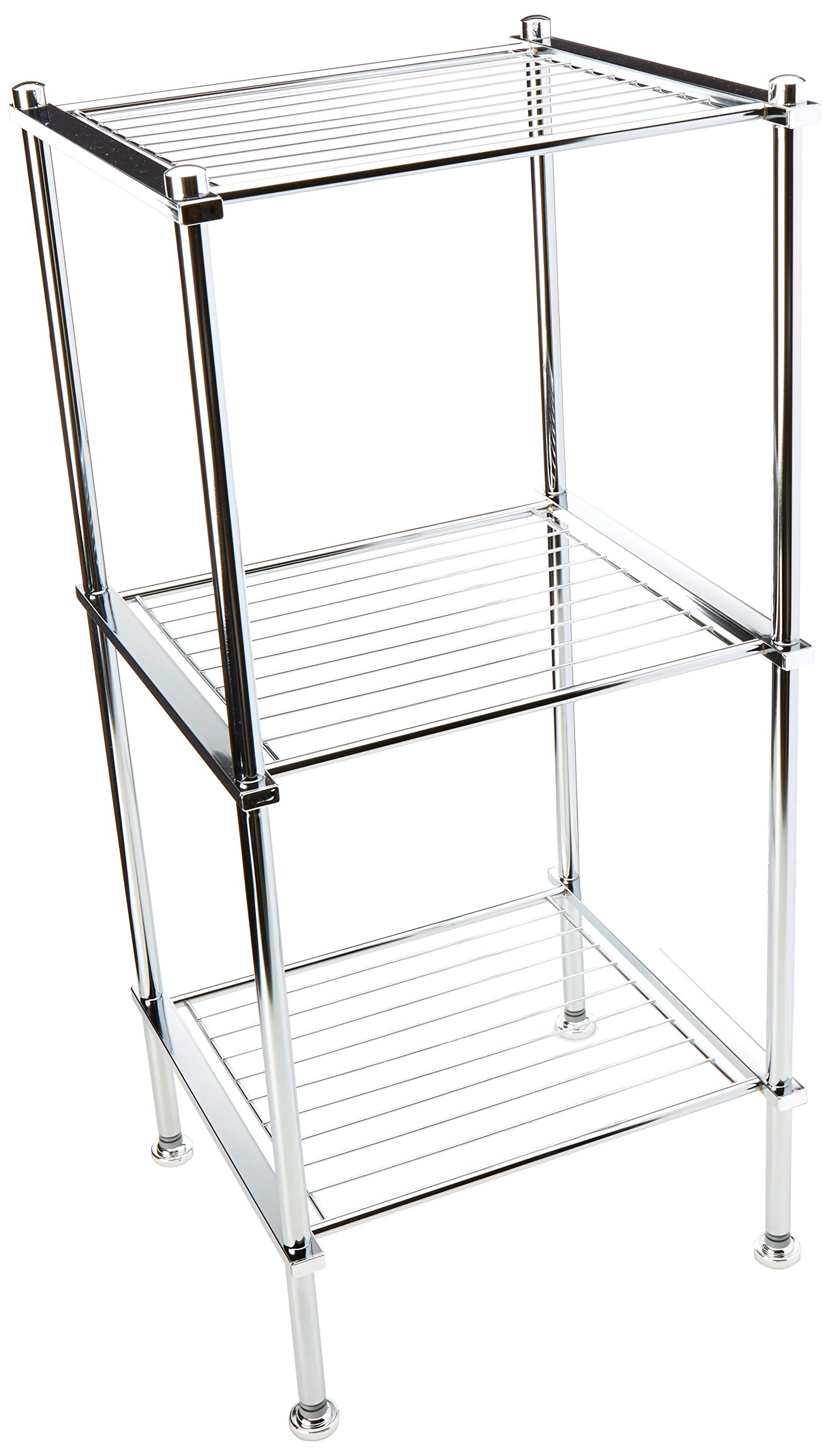 Organize It All 3 Tier Chrome Freestanding Bathroom Storage Shelf by Organize It All
