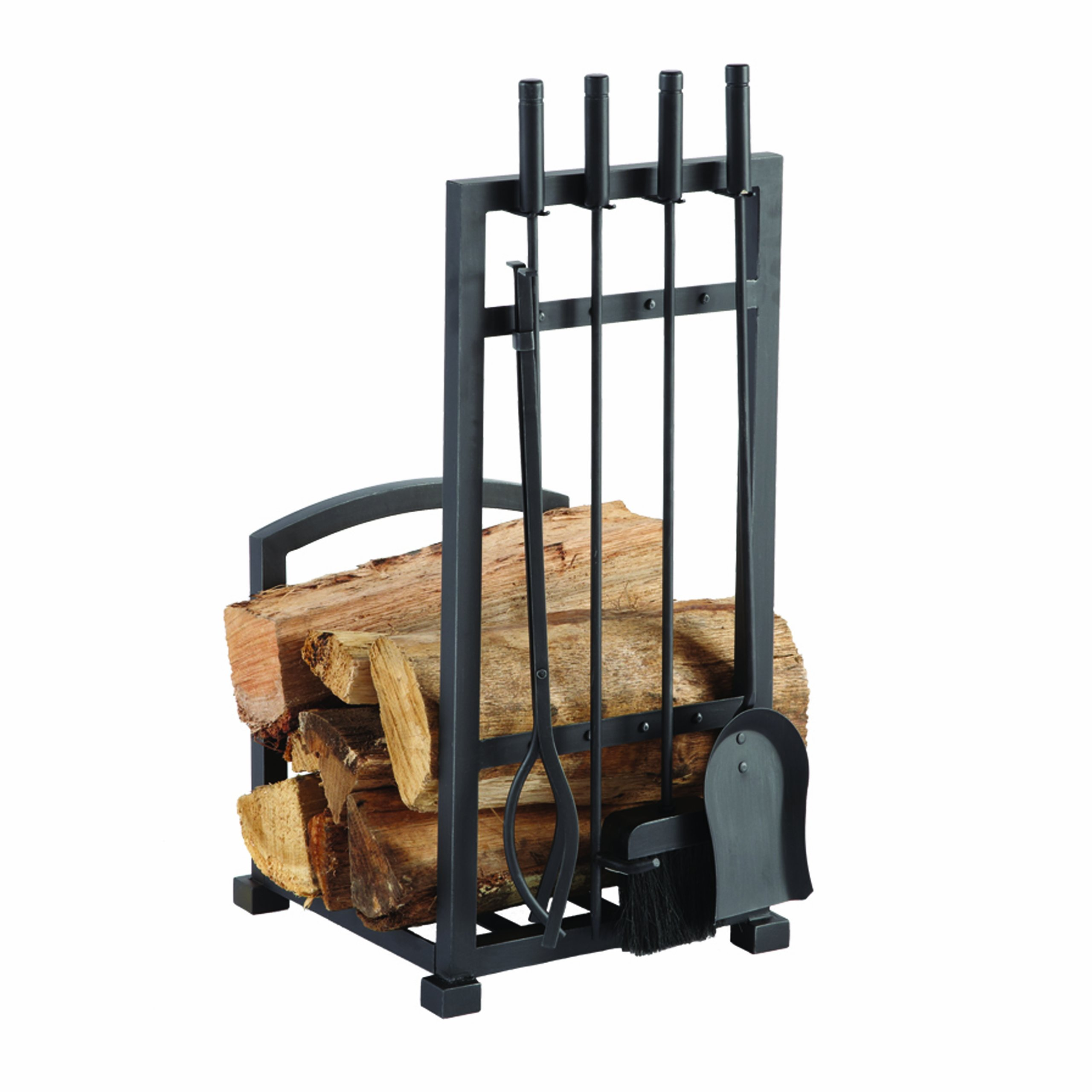 Pleasant Hearth 4 Piece Harper Fireplace Toolset with Log holder by Pleasant Hearth