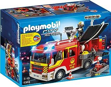 Playmobil 5363 Löschgruppenfahrzeug Mit Licht Und Sound Amazon De