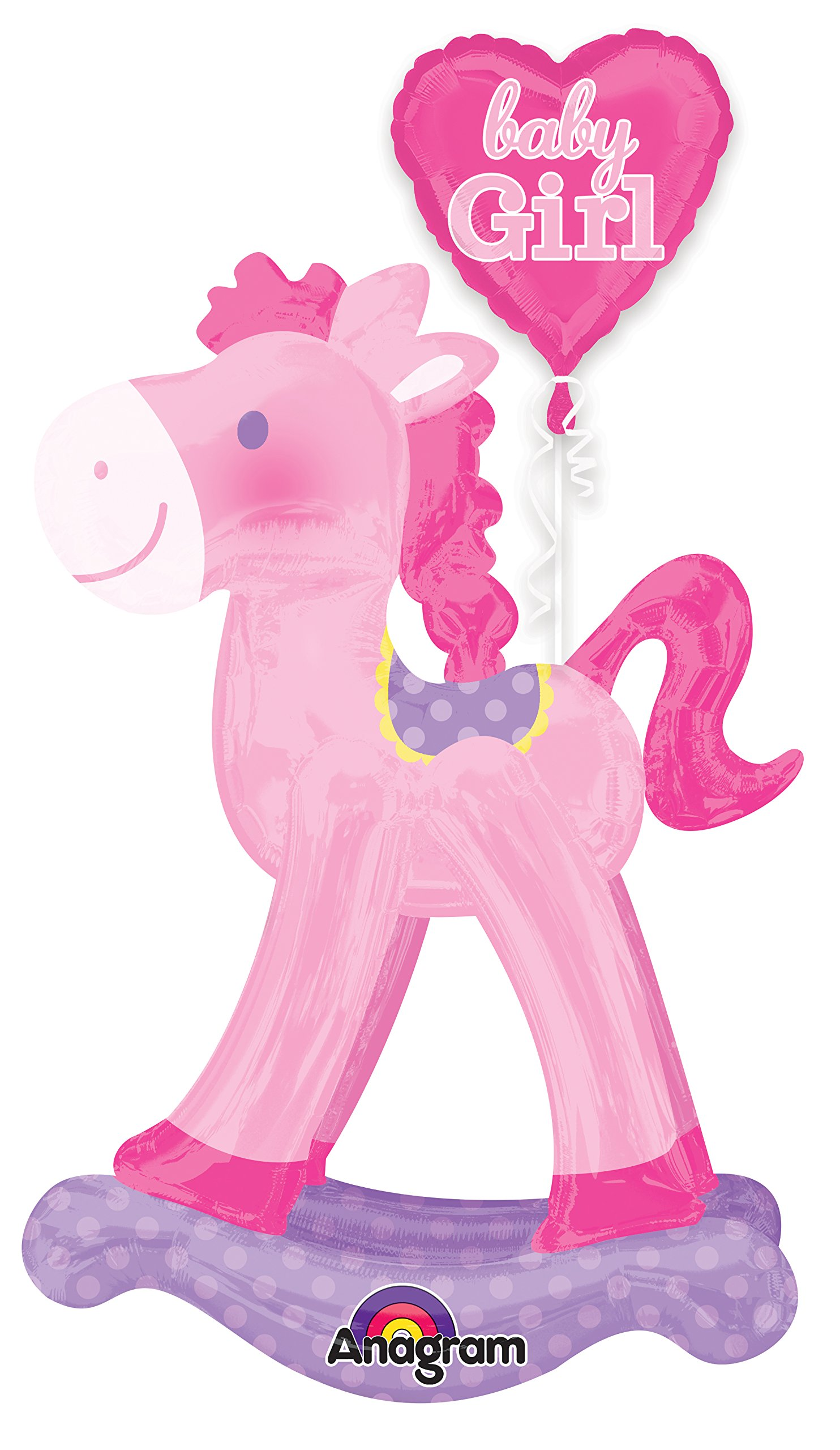 Anagram International Rocking Horse Air Walker, Pink
