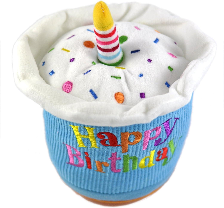 Incredible Amazon Com Cuddle Barn Animated Stuffed Cupcake Big Birthday Funny Birthday Cards Online Alyptdamsfinfo