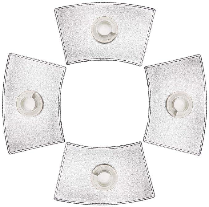 SHACOS Conjunto 4 Manteles Individuales Lavables Antideslizante Resistente Impermeable f/ácil de Limpiar Negro Manteles Individuales 30x50cm