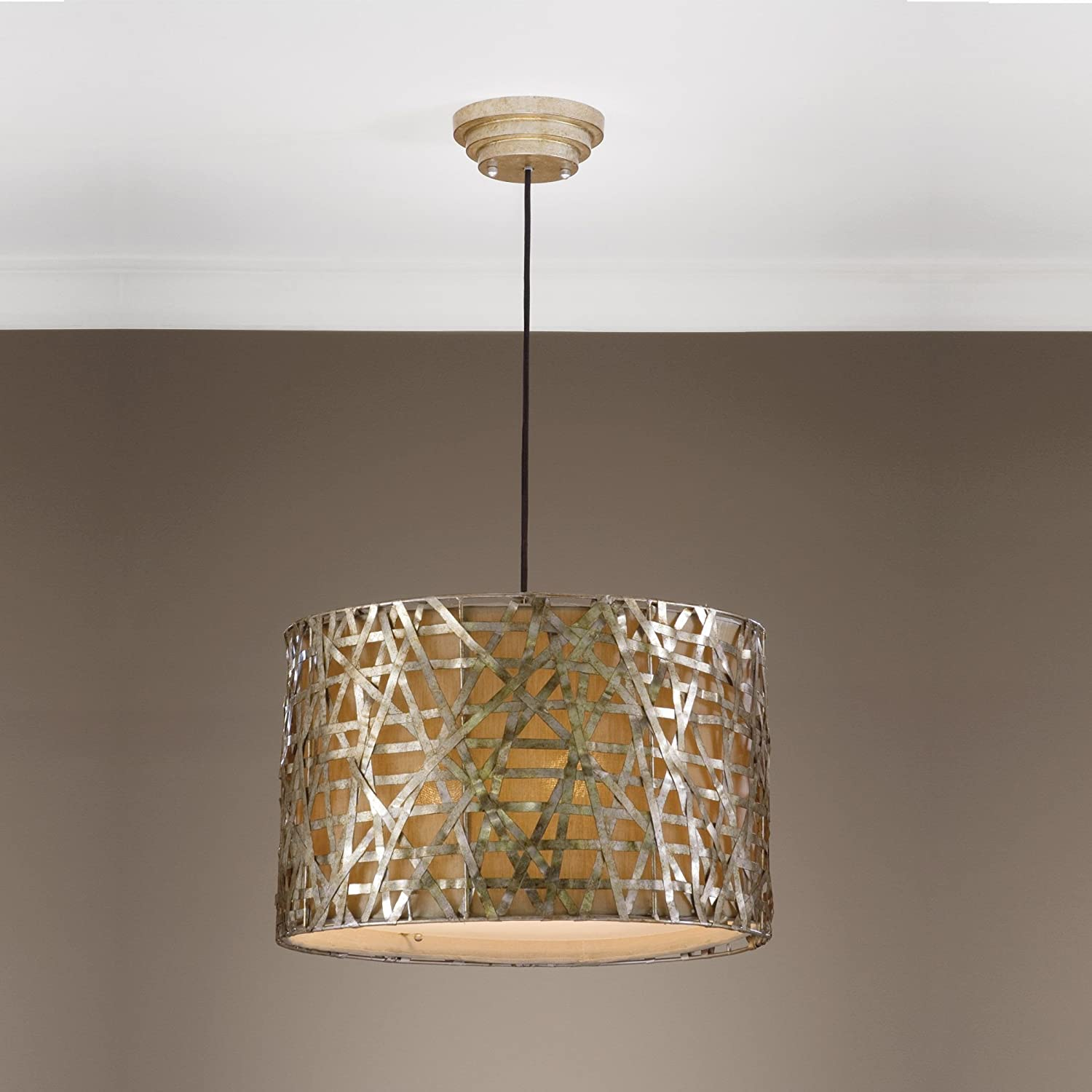 drum shade pendant lighting. amazoncom 22 drum shade pendant lighting